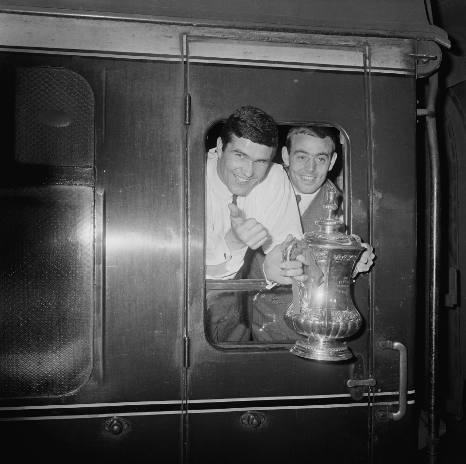St John traveled back to London on the train with Ron Yates after winning the 1965 FA Cup at Wembley in Liverpool.
