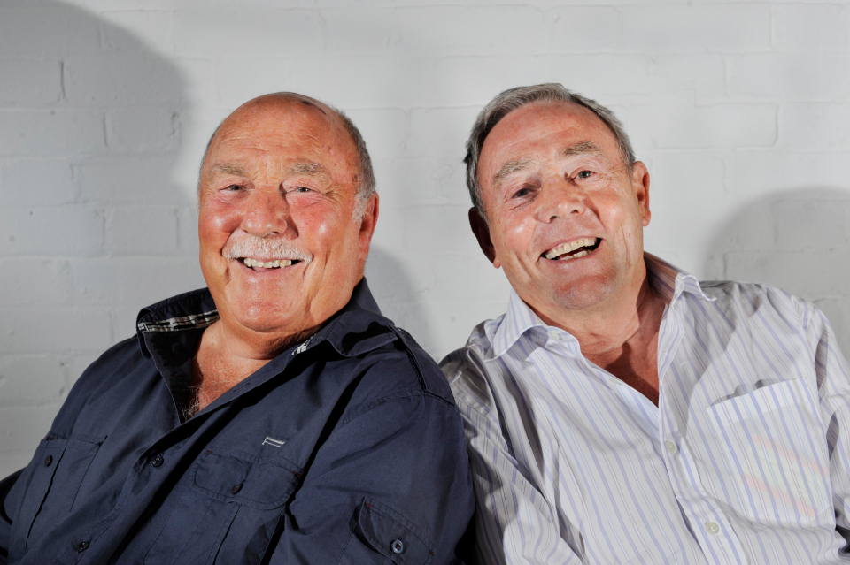 He is known for his television career, along with football legend Jimmy Greaves.