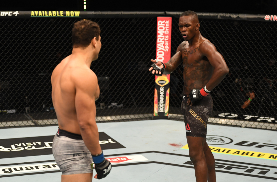 Adesanya ousted Paulo Costa to retain his middleweight title