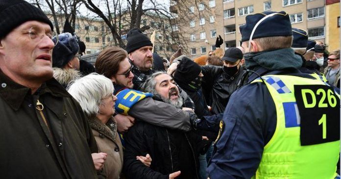 Anti-ban protests in Switzerland, Austria and Sweden.  Police drove out protesters in Stockholm