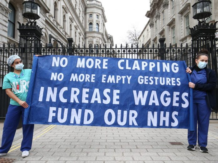 Boris Johnson under pressure to raise NHS wages after Scotland proposes 4% hike