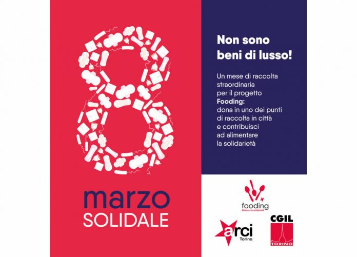 Stimulus campaign by Arci Torino and CGIL Torino on sanitary pads for March 8