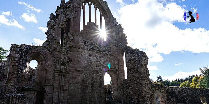 Melrose Abbey in Scotland with lots of Gothic charm