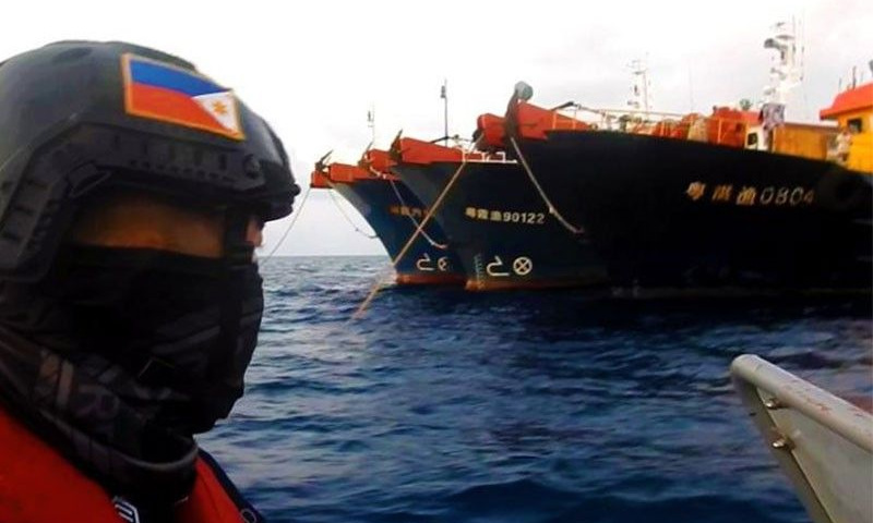 The Philippine Coast Guard approached the Chinese fishing vessel on 14 April.  Photo: PCG