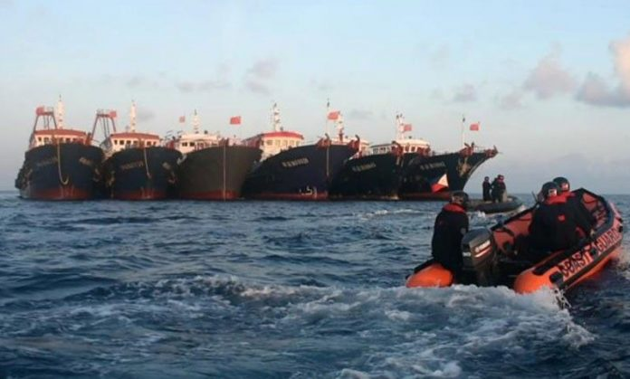 Philippines released a picture of a Chinese ship close to Bau Dau