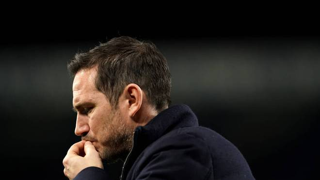 Frank Lampard was sacked in Chelsea in January