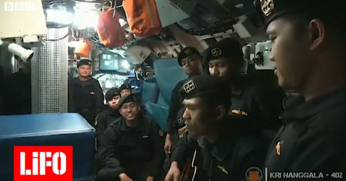 Indonesia: Video with the crew of a lost submarine in a farewell song