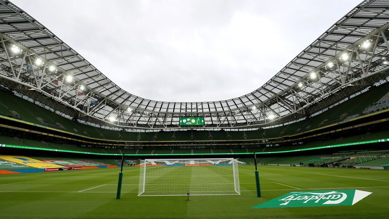 Aviva Stadium in Dublin with 51,700 spectators is one of the stadiums in which the European Championship 2020 will not be played