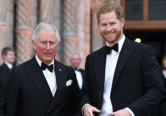Why was Prince Harry unable to talk to his brother and his father on one?