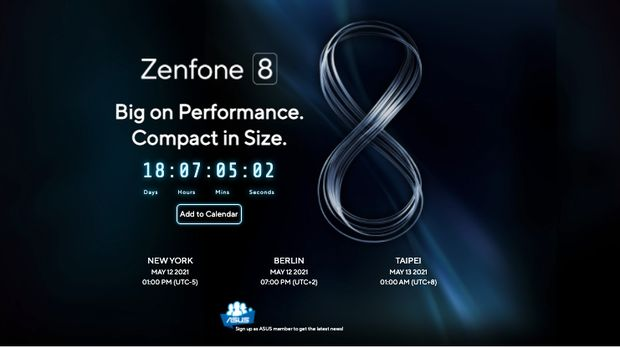pay attention!  This is the global release date of Asus Zenfone 8