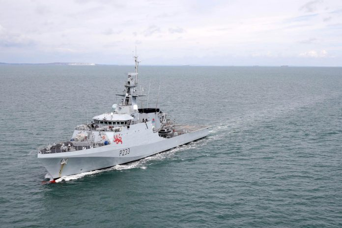 Britain sends naval ships to Jersey