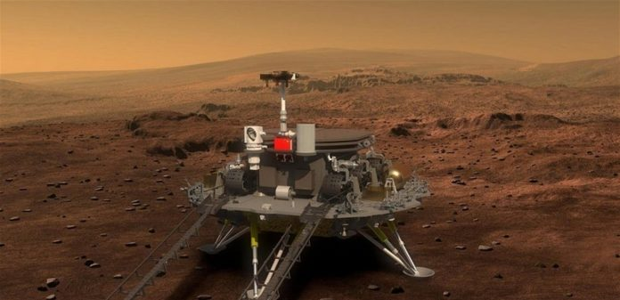 This is how the Chinese spacecraft landed on the surface of Mars .. Adorable Video!