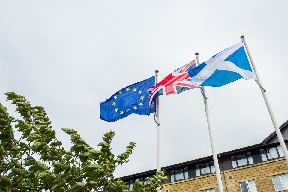 In protest against a Brexit, the Scottish Government decided that all its buildings would display the European flag every day in 2021 - Credit: Christopher Ames / iStock