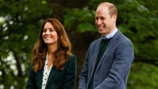 Duchess Kate and Prince William talk about the Fields in Trust charity at Starbank Park on May 27, 2021 in Edinburgh
