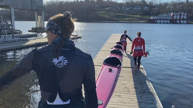 NS.  Kayakers Train in Preparation for the Tokyo Olympics