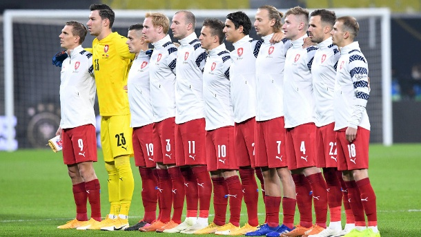 Czech Republic team before a friendly match against Germany on 11/11/2020.  (Source: Imago Images / ULMER Press Picture Agency)