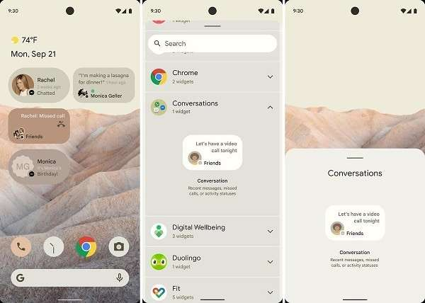 """Leaks for the new operating system expected from Android 12.. """"Google"""""""