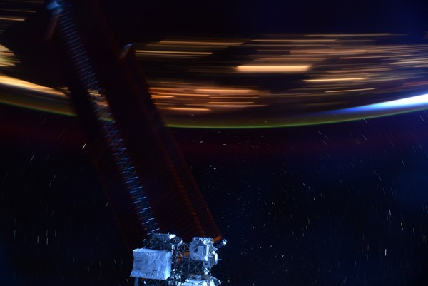 Astronauts took a unique view from the International Space Station