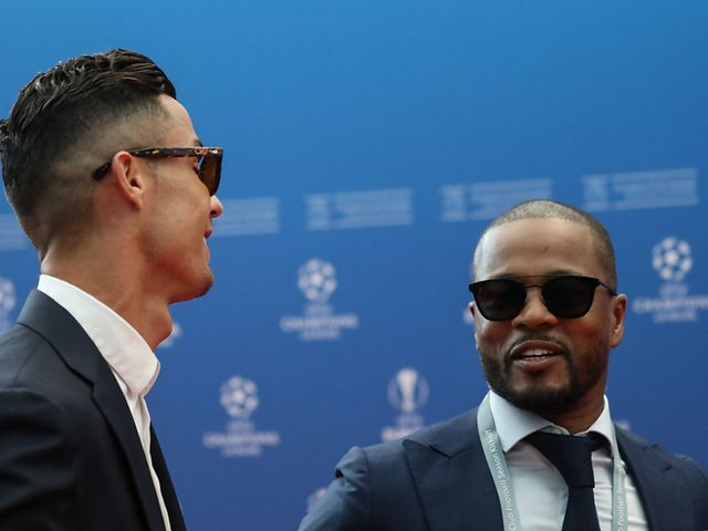 Evra (R.) is always up for fun