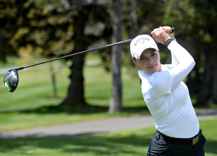 Golf: Anne-Lee Lavoie Takes Means to Make Herself Known.  game    Sun