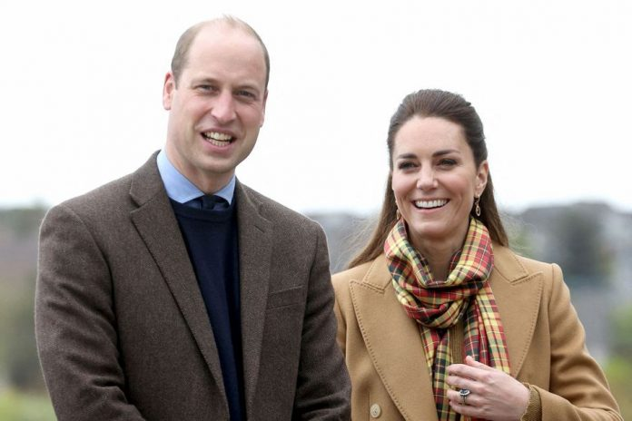 Kate and William, New Walk in Scotland