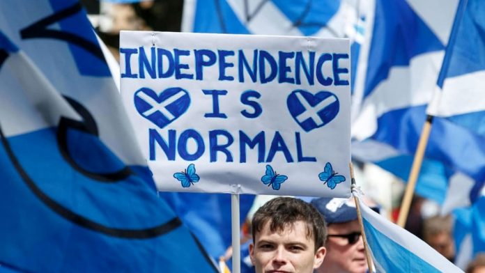 The independence of Scotland no longer frightens economists.  And Covid chaos weakens London