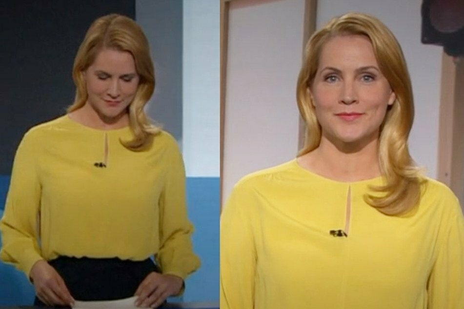 Judith Rakers (45) wore a yellow blouse in Tageschau.
