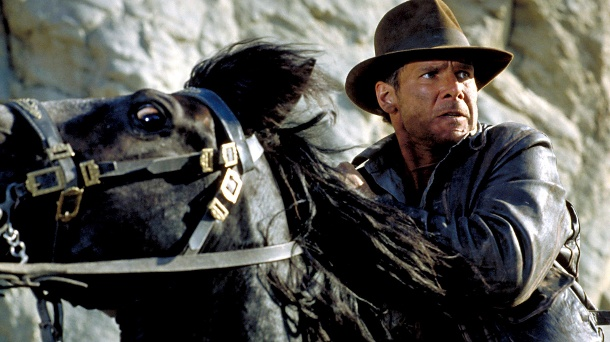 """Harrison Ford 1989 in """"Indiana Jones and the Last Crusade"""": At that time he slipped into the role of archaeologist and adventurer for the third time.  (Source: Imago/Everett Collection)"""