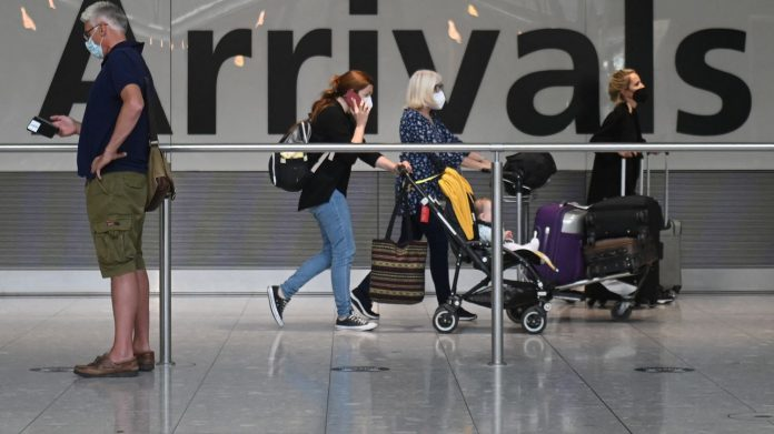 England and Scotland are exempt from vaccinated quarantine travelers in the European Union and the United States, except for the French