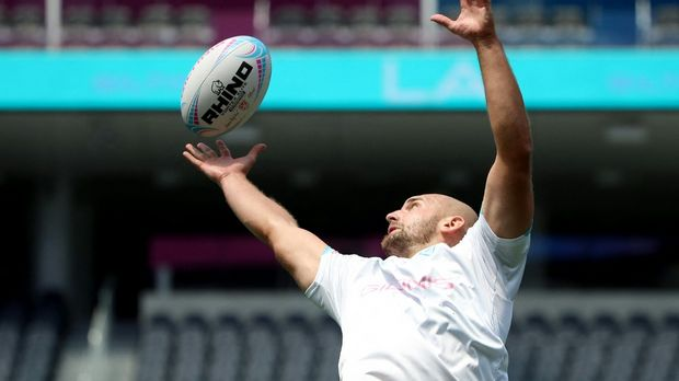 Rugby - EM: The national rugby team in the quarter finals against Spain