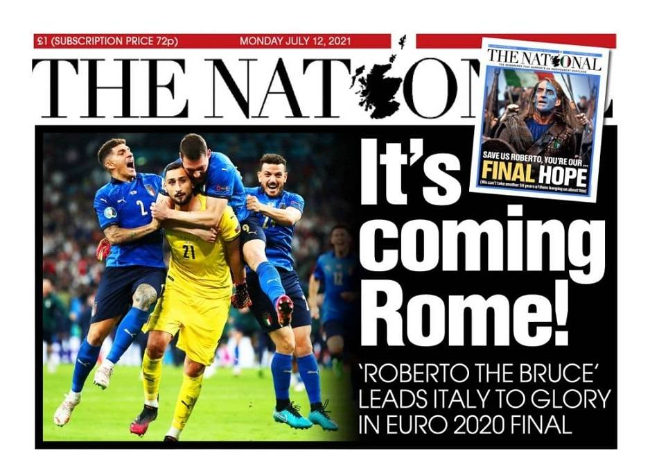 Celebrations for Euro 2020 Italy in the world