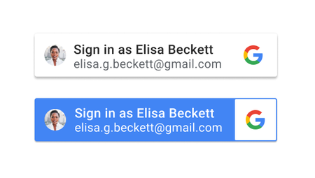 Sign in with Google Identity Services button