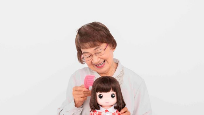 He developed a doll with AI to support the elderly in times of isolation.  in tokyo