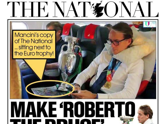 Mancini is on a plane with The National, the Scottish newspaper that compares him to Braveheart - Corriere.it