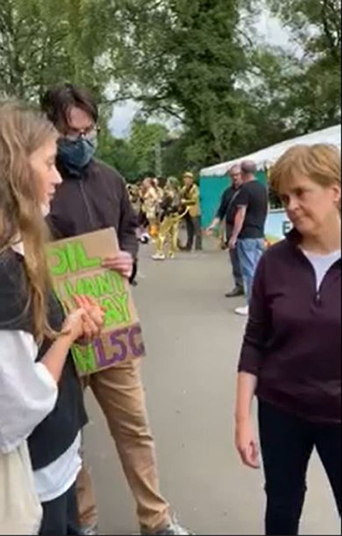 Nicola Sturgeon confronts climate activists for not opposing the Cambo oil field