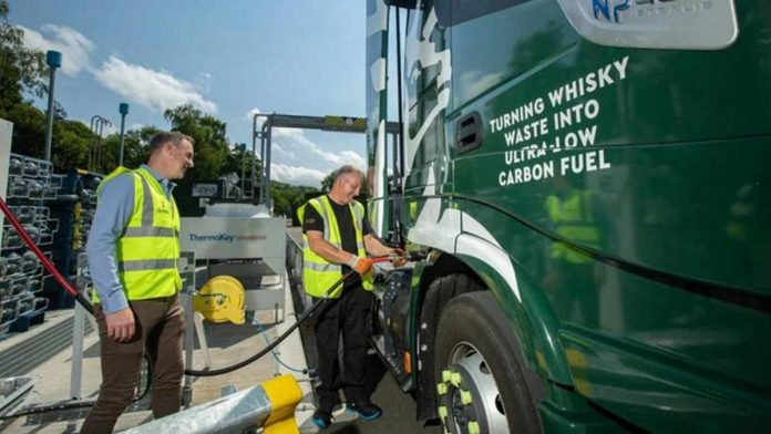 The latest from Scotland: trucks traveling on whiskey to reduce emissions