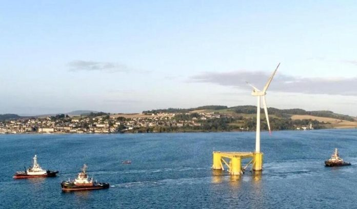 The world's largest floating wind turbines have just been installed in Scotland, here's theirs
