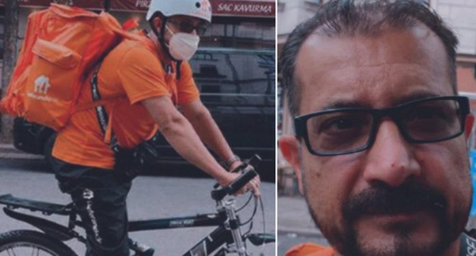 Viral Photo    The former minister of Afghanistan makes a living in Germany by working as a food delivery man on a bicycle.  Syed Ahmed Shah Sadat    Facebook    Twitter    social network    trend    trend    Afghanistan    viral