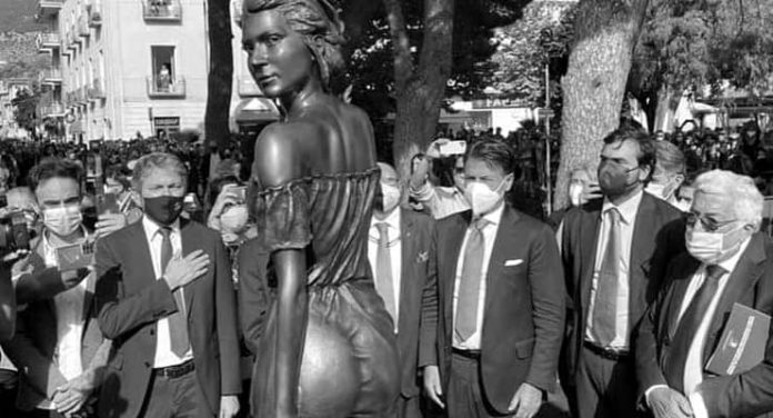 Transparent statue sparked sexism controversy