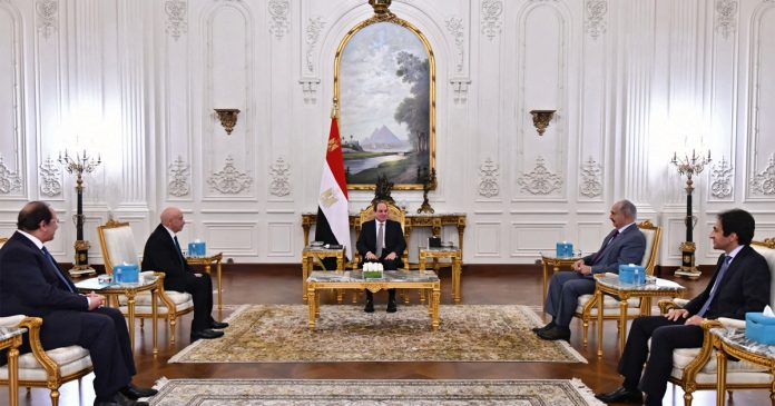 Al-Sisi received Saleh and Haftar and stressed the importance of timely Libyan elections.  Egypt News
