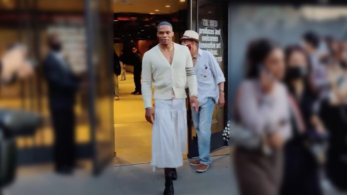 In a kilt at Fashion Week, basketball player Russell Westbrook recalls that a boy in a skirt is still not despised