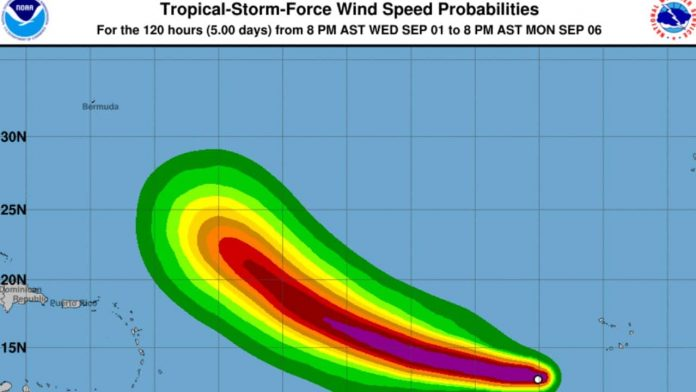 Larry gets stronger;  Could become a major hurricane, Category 6.  till