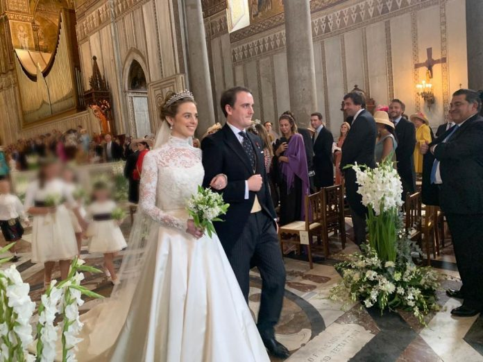 Wedding of Don Jaime de Bourbon delle Du Sicily and Lady Charlotte Diana Lindsay Bethune in the Cathedral of Monreale