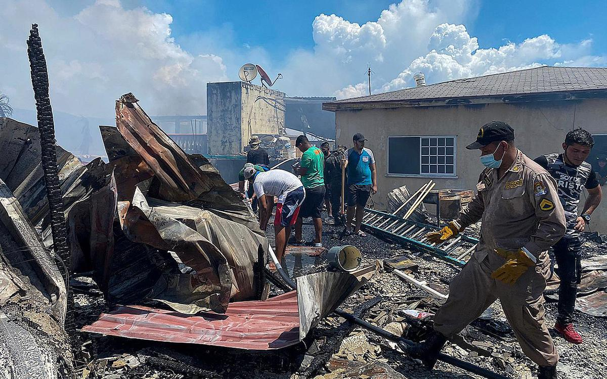 120 houses were burnt to ashes by the flames.