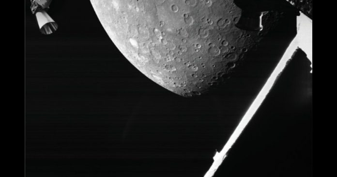 The BepiColombo spacecraft sent the first images of Mercury.  He also captured a pit named Bedich Smetana called Eroshalas.