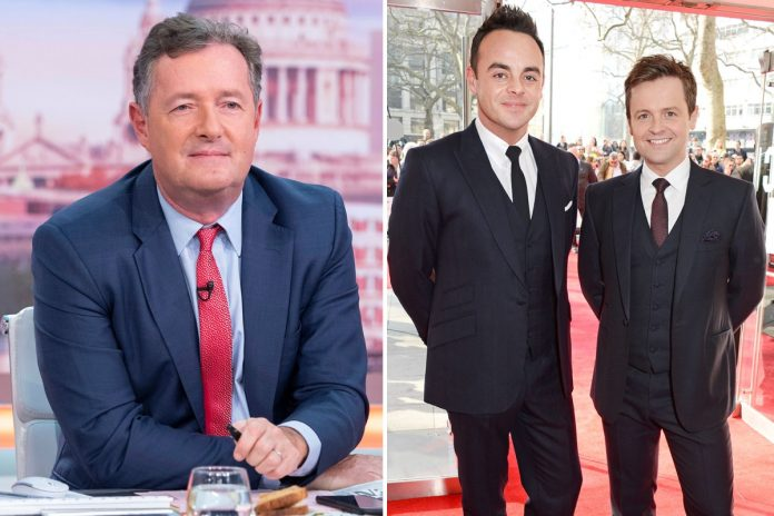 Piers Morgan jokes about losing the NTA to Ant and December - as they give him advice on how to win